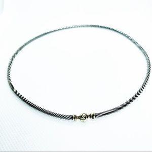 David Yurman Vintage Necklace Choker 925/14k
